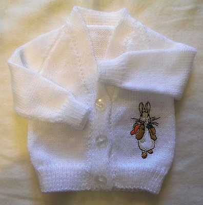 Peter Rabbit Knitted baby cardigan  (New)