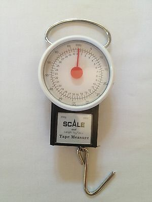 Manual Fishing Scale with built in tape measure upto 30kg / 66lb