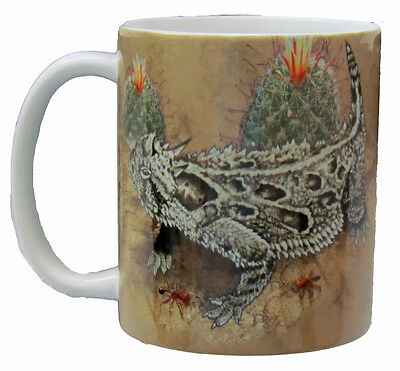 Horned Lizard 11 Oz Ceramic Coffee Cup Tea Cup Reptile Horny Toad