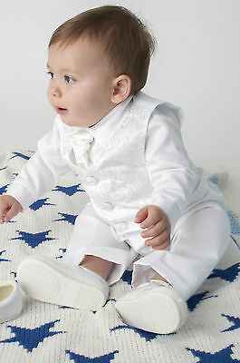 Baby Boys 4 Piece Christening Suit Christening Outfit Paisley