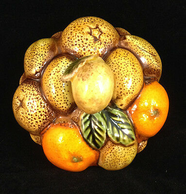 Fruit Basket Pottery Inarco Japan Cookie Jar Cover