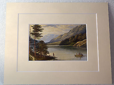 Thirlmere Very Rare Antique Victorian Double Mounted Print 1880 10X8 Overall
