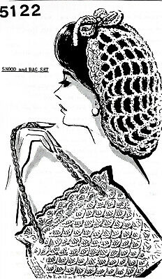 5122 Vintage SNOOD/BAG Patterns to Crochet (Reproduction)