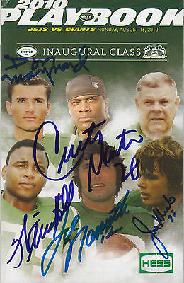 NY Jets 1st Ring of Honor Program SIGNED by all 5 Namath Klecko Martin +++ PROOF