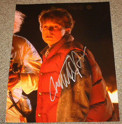 Michael J. Fox - Marty - Back to the Future - SIGNED 11x14 - EXACT PROOF