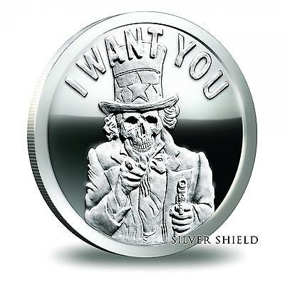 2014 Silver Shield Uncle Slave 1 oz .999 Silver Proof-Like Round USA Made Coin
