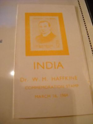 India Dr. W.M. Haggkine Commemoration Stamp March 16, 1964