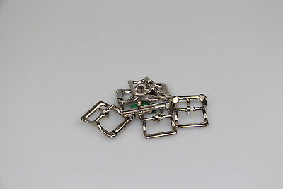 Hobble Buckle 6 x 19mm buckle horse rugs steel/nickel plated