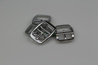 """Double Bar 4 x 25mm or 1"""" buckle horse rugs steel/brass plated"""