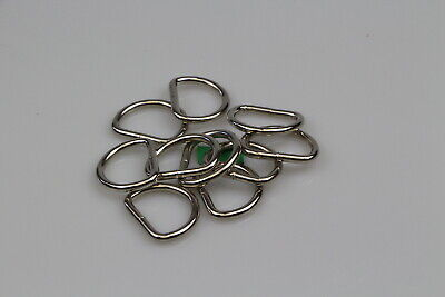 Dee d ring x 10 welded steel 25mm x 4mm horse rugs dog collars leads