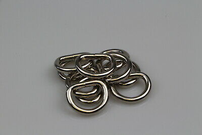 Dee d ring x 10 welded steel 25mm x 6mm horse rugs dog collars leads