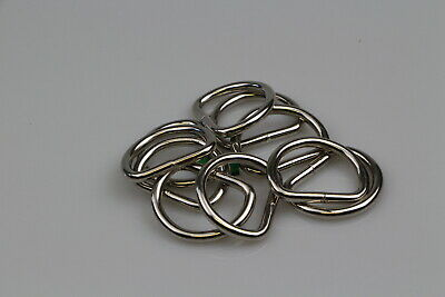 Dee d ring 10 x welded steel 32mm x 5mm horse rugs dog collars leads