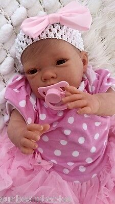 Sunbeambabies Child Friendly New Reborn Realistic Newborn  Doll Fake Baby Girl