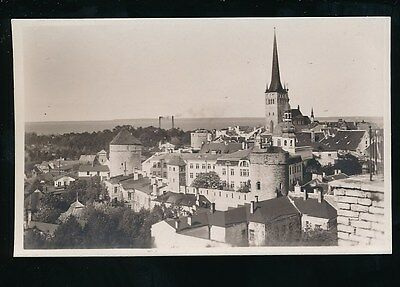 Estonia TALLINN Panoramic rooftop view + violet cachet RP PPC
