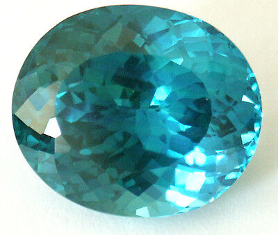 21.5x18.8 mm 38.7 cts Oval Fancy Lab Created Bluish Green Spinel