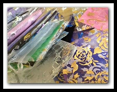 10 Organza Bags -  Mixed Pack  (Various Sizes and Colours)