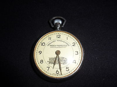 "Pre 1920s Ward Watch Co ""Railway Timekeeper pocket watch, Austria, 12 hour Dial"