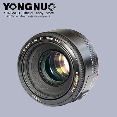 Yongnuo YN EF 50mm f/1.8 AF/MF Large Auto Focus Aperture Lens For Canon EOS DSLR