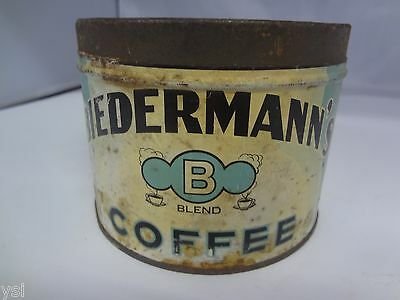VINTAGE BIEDERMANN'S BRAND COFFEE TIN ADVERTISING COLLECTIBLE GRAPHICS    G-429