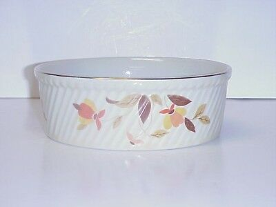 Hall's Superior Autumn Leaf Rayed Baker Casserole Dish 505