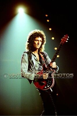 Brian May Queen Photo 8x12 or 8x10 inch '79 Live Concert from 35mm Negative L48