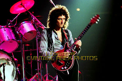 Brian May Queen Photo 8x12 or 8x10 inch '79 Live Concert from 35mm Negative L49