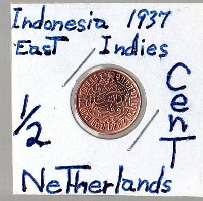 1937 Indonesia East Indies 1/2 Cent