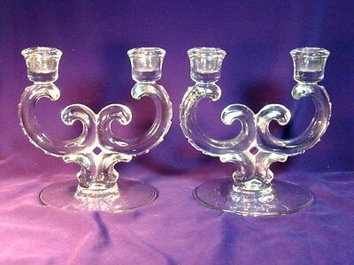 Fostoria Centurypair Double Candle Holders