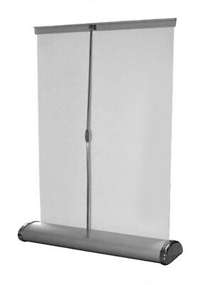 """counter retractable banner stand 8"""" x 12"""" table top roll up display"""