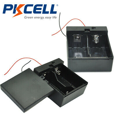 1pcs D Size DC 2 Cells Battery Power Supply Holder Holds Case Box with Wire