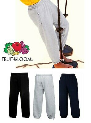 Fruit of the Loom Kids/Childs/Boys/Girls Joggers/Jogging Bottoms Black/Navy/Grey