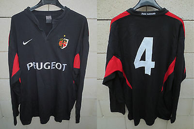 VINTAGE Maillot rugby STADE TOULOUSAIN n°4 NIKE coton shirt ancien Toulouse XXL