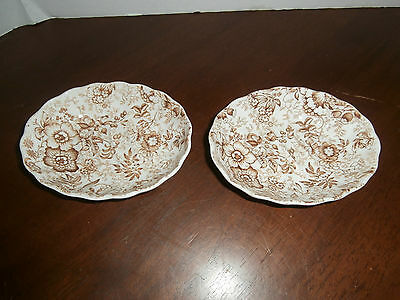 2 SOAP DISHES JAMES KENT OLD FOLEY 18th CENTURY CHINTS DESIGN 2 SOAP DISHES