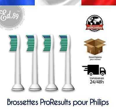 Brossettes Sonicare PRORESULTS compatibles brosse à dents Philips