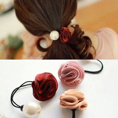 Stylish elegant Roses flower pearl hair accessories hair band H8