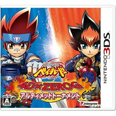 NEW Nintendo 3DS Metal Fight Beyblade 4D x ZeroG Ultima JAPAN REGION LOCKED Game