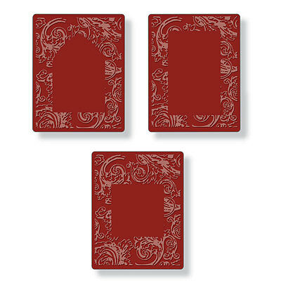 Tim Holtz Texture Fades ~ EMBOSSING DIFFUSER SET #2 ~ Sizzix Embossing Folders