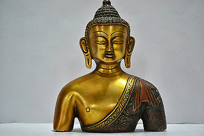 """7+"""" Long Magnificent Bodhi Buddha Statue Head Quality buddhas amulets chinese 3D"""
