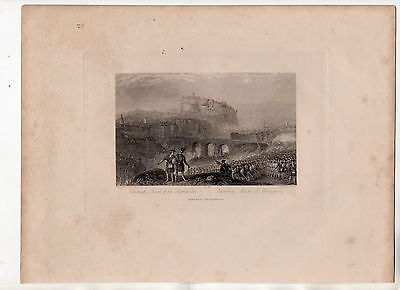 JMW Turner - March of The Highlanders Edinburgh c1835 Engraved by T Higham
