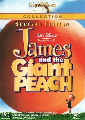 James And The Giant Peach 1996 - Brand New Sealed UK Region 2 Compatible DVD
