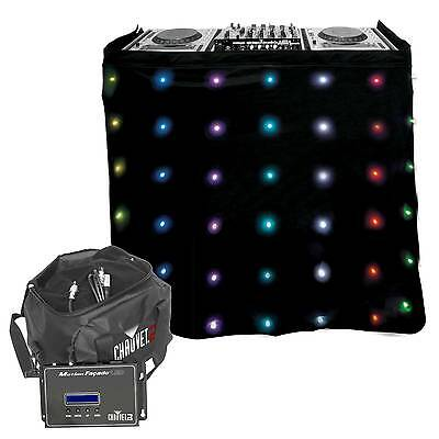 Chauvet DJ MotionFacade LED Animated Frontboard Club Booth Facade Skirt + Bag