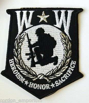 WOUNDED WARRIOR ORIGINAL CLASSIC EMBROIDERED SHIELD PATCH 3.5 INCHES