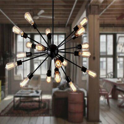 Fuloon Vintage Industrial Sputnik Ceiling Pendant Lamp Chandelier Light Fixtures