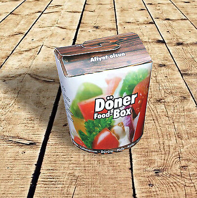 500 Dönerbox Dönerboxen Foodboxen Take away 16oz 450ml