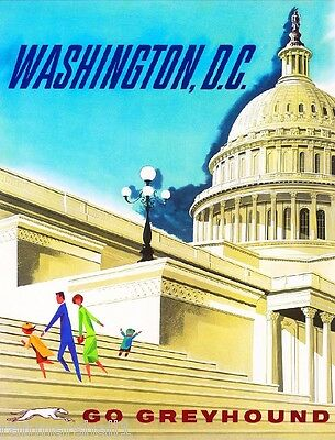 Washington D.C. Vintage United States America Travel Advertisement Art Poster