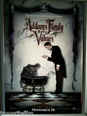 Cinema Poster: ADDAMS FAMILY VALUES 1993 (One Sheet) Anjelica Huston Raul Julia