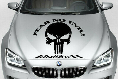 FEAR NO EVIL VINYL DECAL HOOD SIDE FOR CAR TRUCK PUNISHER SKULL
