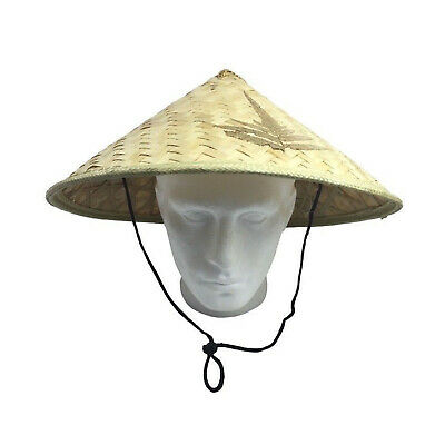 Deluxe VIETNAMESE HAT Traditional Asian Bamboo Sun Cap Halloween Costume Party