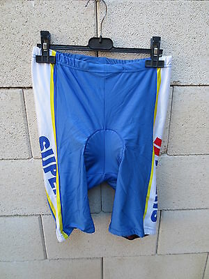 VINTAGE Cuissard cycliste SUPER U cycling short 5 XL bleu