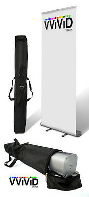 """Retractable Roll Up Advertising Banner Stand 31"""" wide 79"""" tall Display CL-R-S-3"""